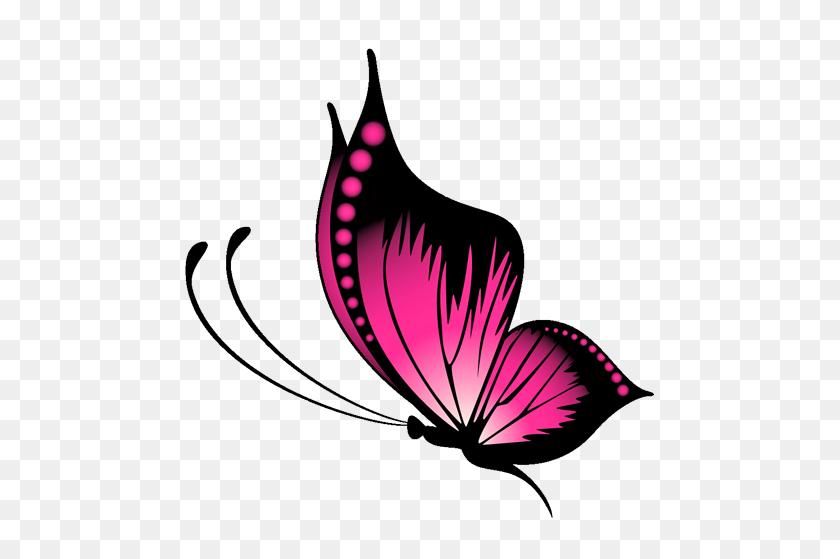 Butterflies Butterfly Tattoo - Pink Butterfly Clipart