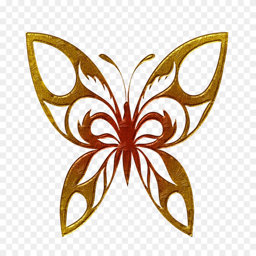 Butterfly Golden Clipart Transparent Png - Butterfly Clipart Transparent