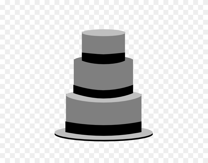 Bw Cake Clip Art - Tiered Cake Clipart