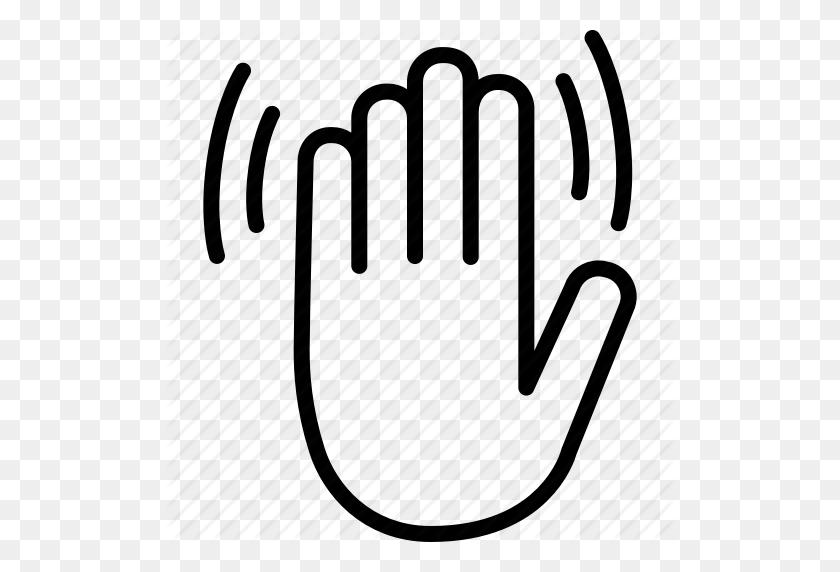 Bye, Gesture, Goodbye, Hand, Hello, Wave, Waving Icon - Wave Goodbye Clipart