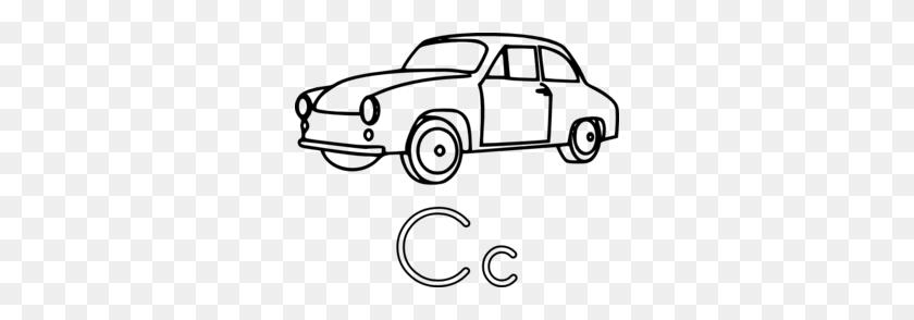 298x234 C Is For Car Clip Art - Free Classic Car Clipart