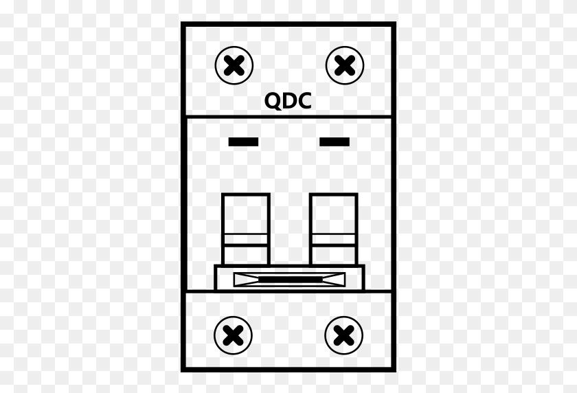 Cabinet Dc Branch Circuit Breaker, Breaker, Burglar Icon With Png - Circuit PNG