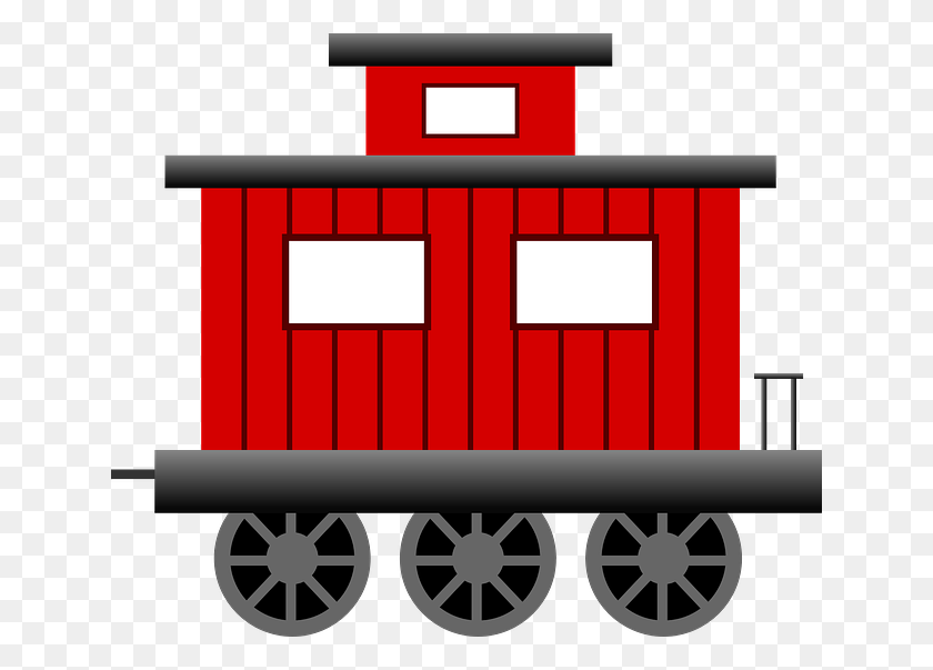 Loco Train Carriage Clip Art - Train Clipart Outline