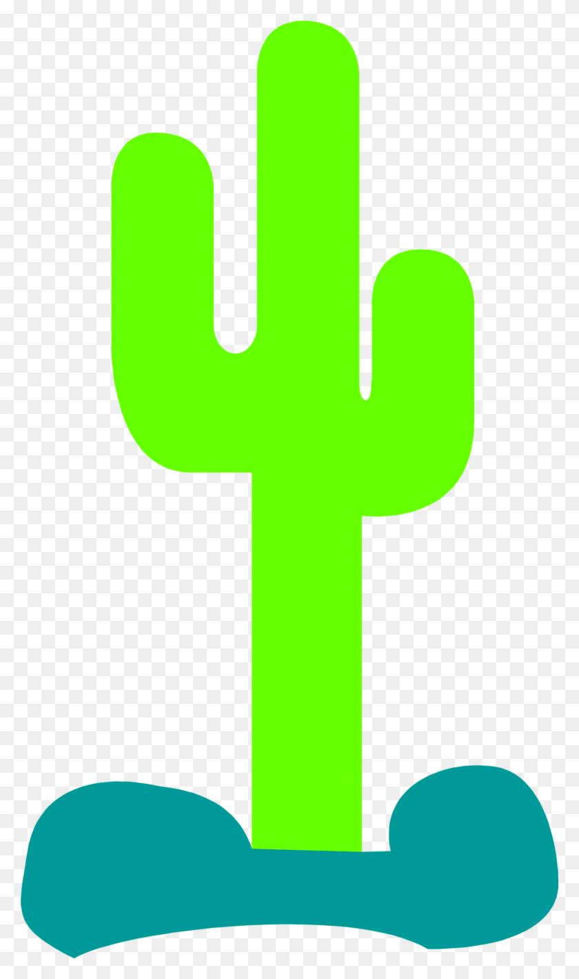 Cactus Silhouette Clip Art - Simple Cross Clipart