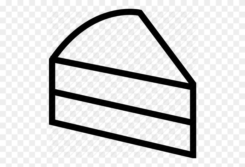 Cake, Cake Slice, Dessert, Sweet Icon - Cake Slice Clipart Black And White