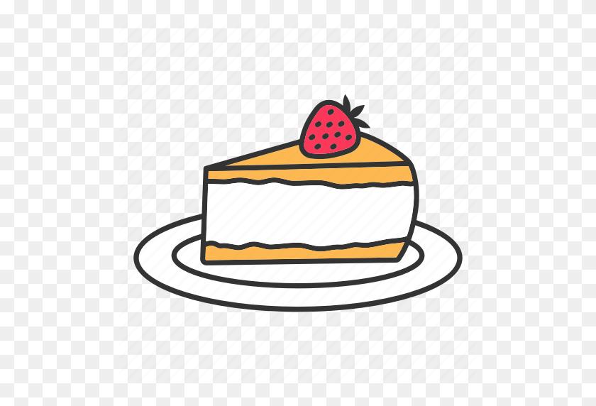 Cake, Cheesecake, Dessert, Layer, Pie, Strawberry, Sweet Icon - Strawberry Cheesecake Clipart