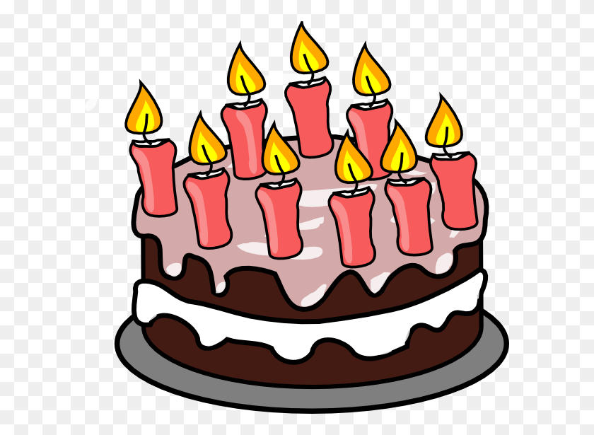 Cake Clip Art - Pink Cake Clipart