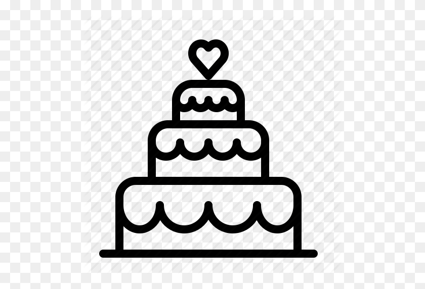 Cake, Heart, Ios, Layered, Love, Tiers, Wedding Icon - Tiered Cake Clipart