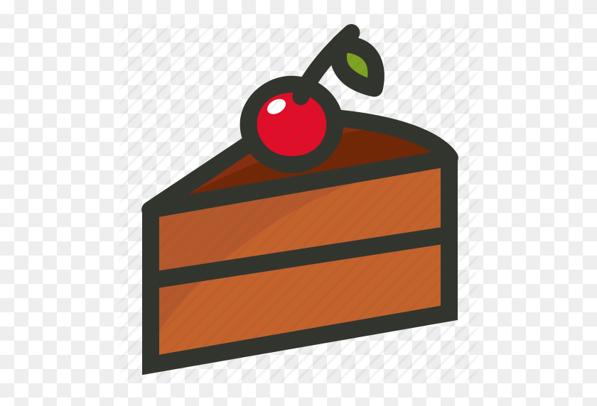 Cake Slice, Cherry Cake, Dessert Icon - Cake Slice PNG
