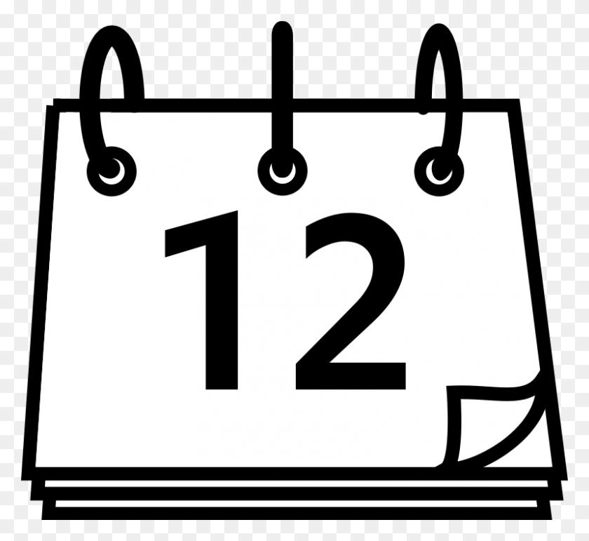 Calendar Clip Art Black And White Latest Calendar Calendar Black - Aztec Clipart