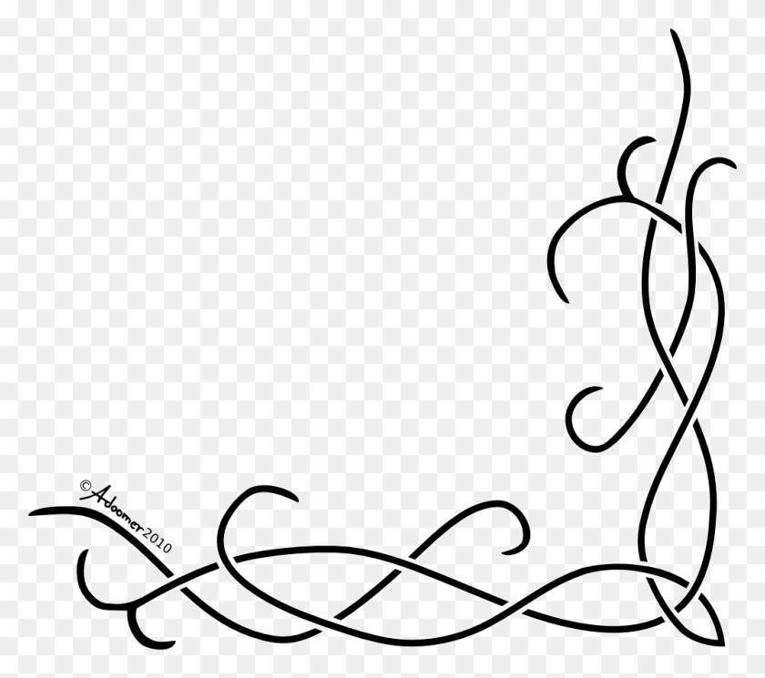 Calligraphy Corner Designs Png Png Image - Corner Designs PNG