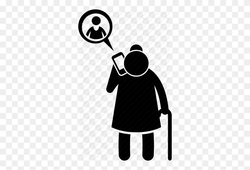 314x512 Calling, Chatting, Grandma, Grandmother, Old Woman, Phone - Grandmother Clip Art