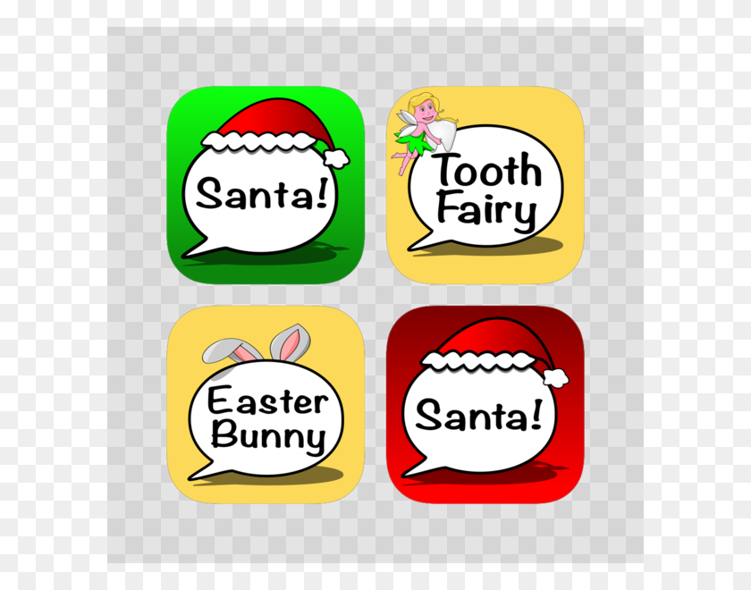 Calls From Santa Calls Texts To Santa, Tooth Fairy Easter - Clip Art Tooth Fairy