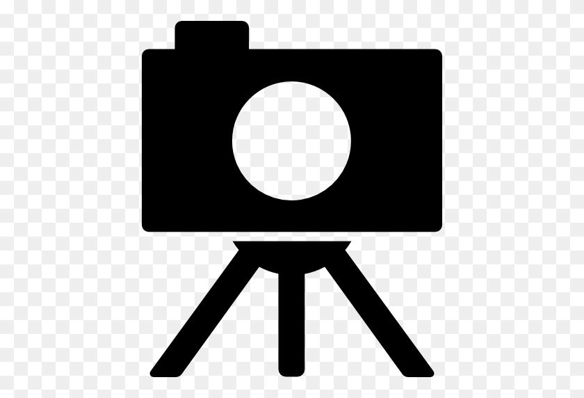 Camera On Tripod - Tripod Clipart