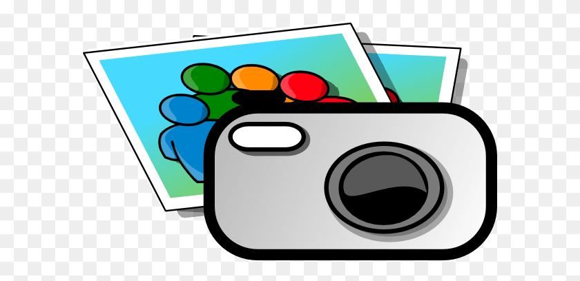Camera Photograph Cliparts - Camera With Flash Clipart