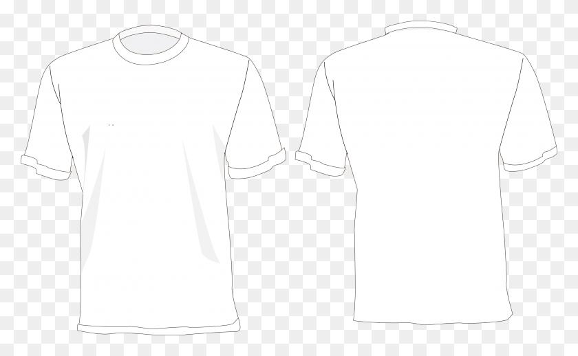Camisa Branca Desenho Frente E Costas - Camisa PNG