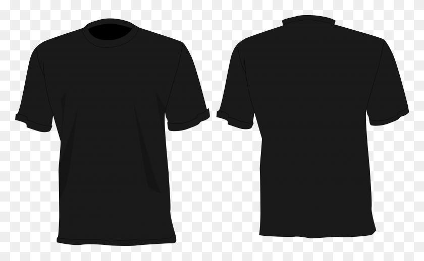 Camisa Preta Desenho Frente E Costas - Camisa PNG