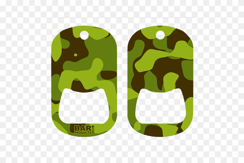 Camo Dog Tag Openers - Camouflage PNG