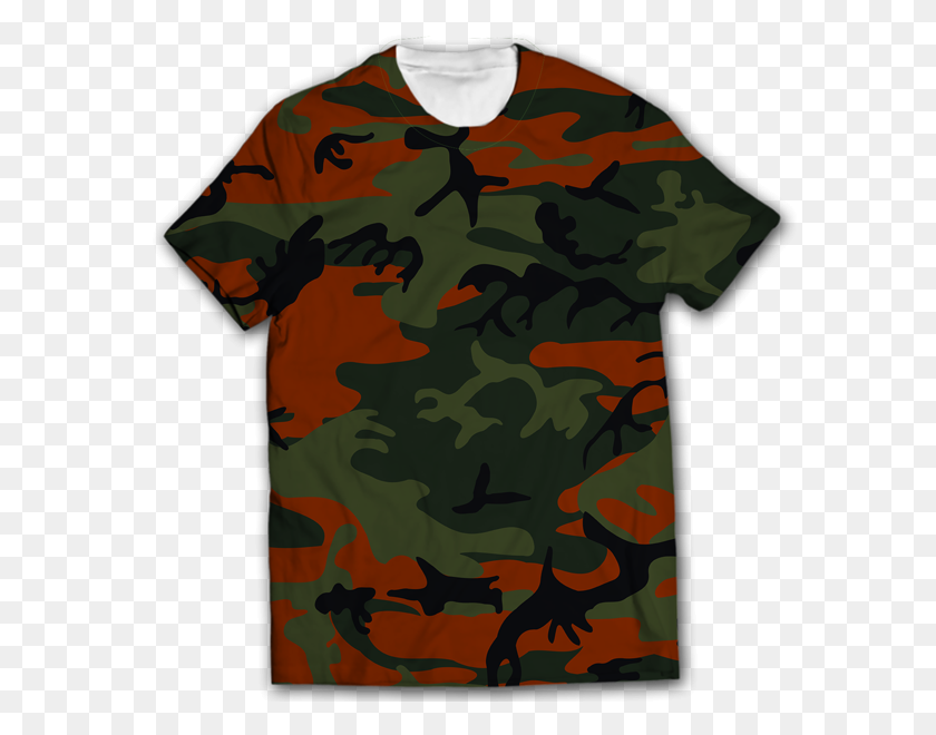 Camouflage All Over Printed T Shirt Price Online - Camouflage PNG