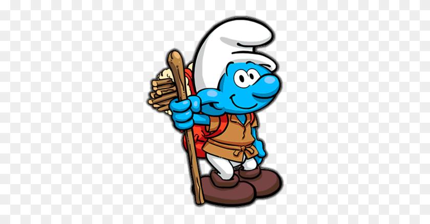 Camper Smurf - Pop Up Camper Clipart