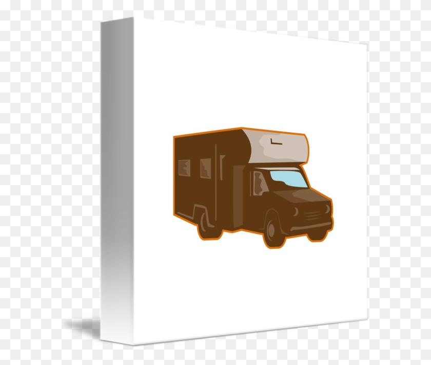 Campervan Motorhome Retro - Retro Camper Clipart