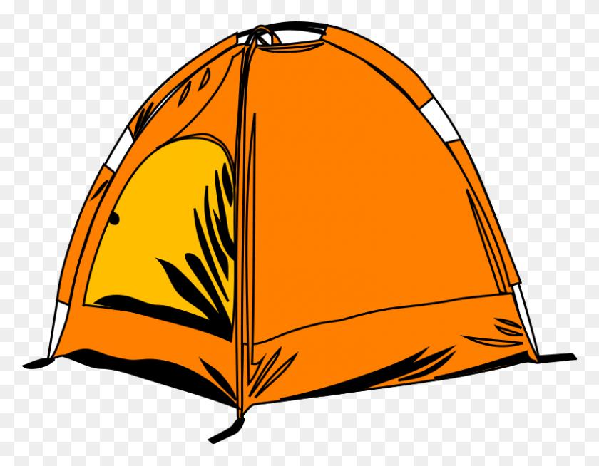Camping Tent Campsite Campfire Clip Art - Camping Tent Clipart