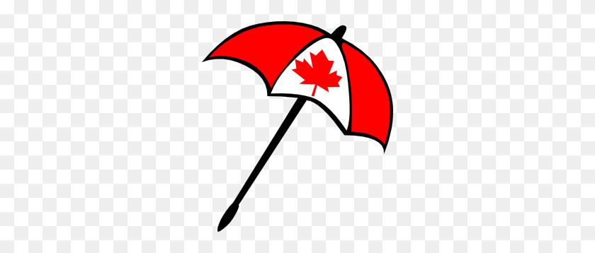 270x298 Canada Flag Umbrella Clip Art - Arkansas Clipart