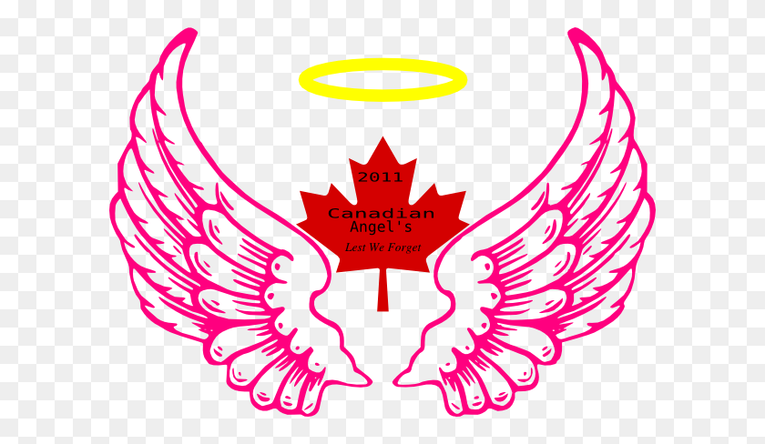 600x428 Canadian Wing Angel Halo Clip Art - Lynx Clipart