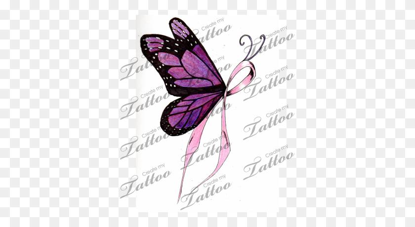 Cancer Ribbon Tattoo Designs Marketplace Tattoo Breast Cancer - Breast Cancer Ribbon PNG