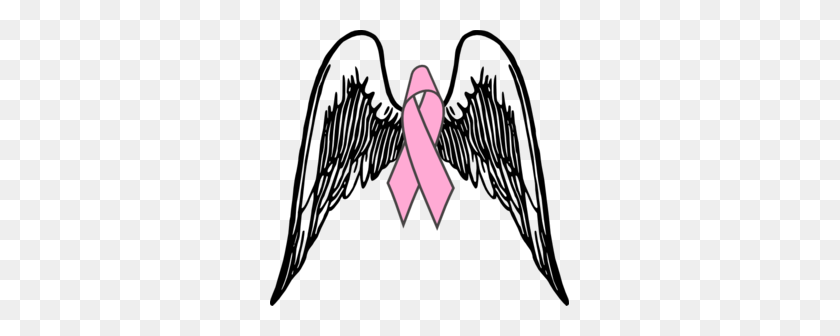 299x276 Cancer Ribbon With Wings Clipart Clip Art Images - Lung Cancer Clipart