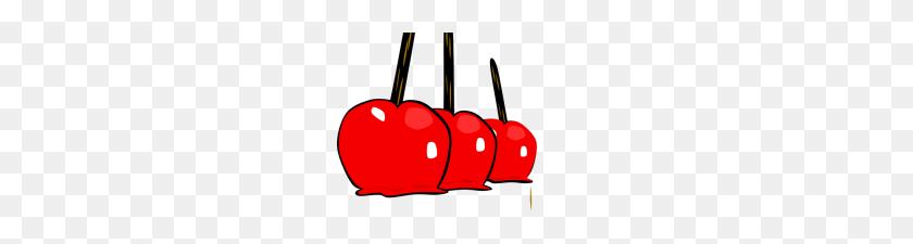 Candy Apple Clip Art Vector Illustration Caramel Apple Red Candy - Caramel Clipart