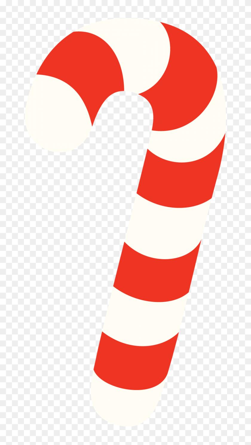 Candy Cane Clipart Divider - PNG Divider