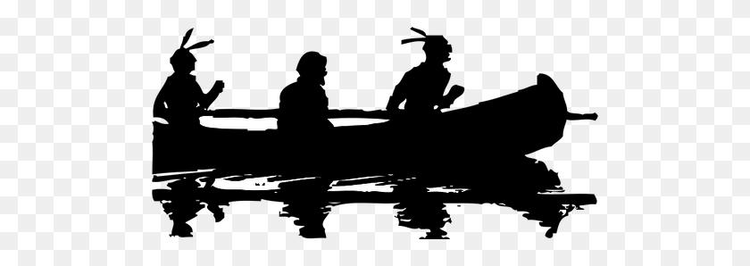 Canoe Silhouette Clip Art - Riverboat Clipart