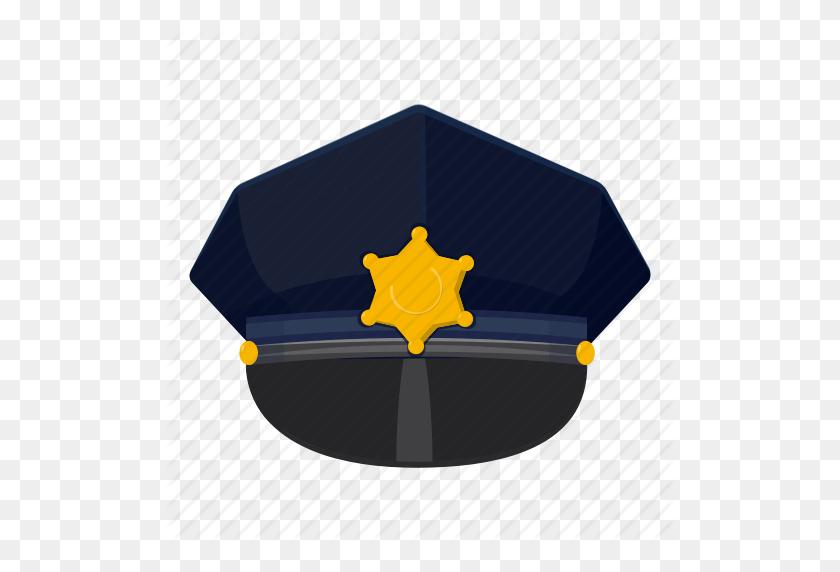 Cap, Cartoon, Cop, Hat, Logo, Police, Police Cap Icon - Police Hat PNG