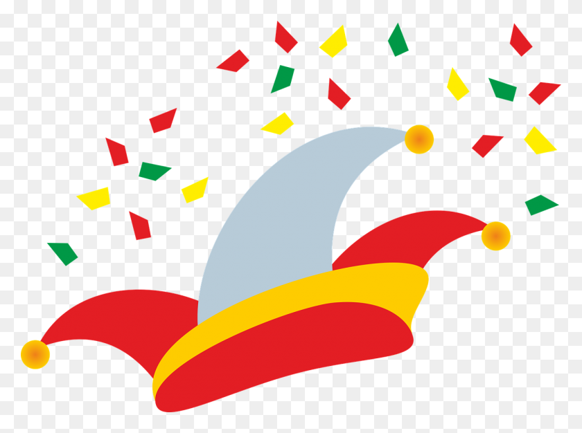 1280x929 Cap, Fool's Cap, Carnival, Party, Confetti - Free Confetti Clip Art