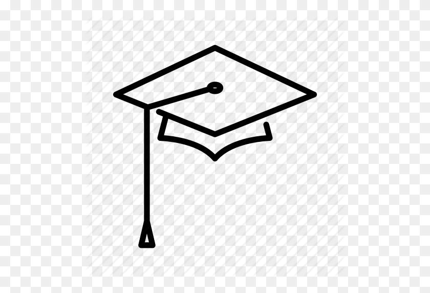 Cap, Graduation, Graduation Cap, School, Square, Square Academic - Graduation Cap Icon PNG