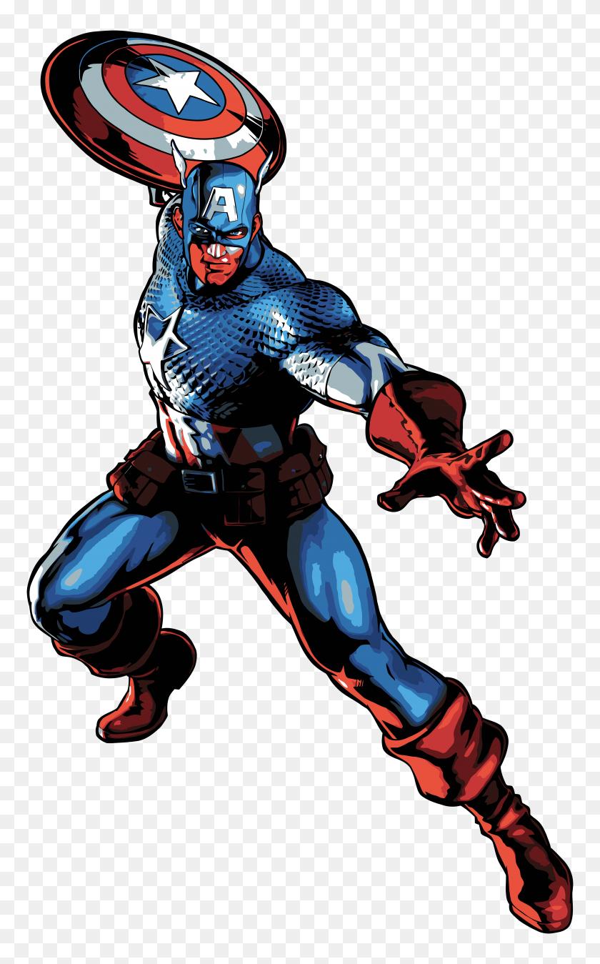 Captain America Cartoon Png Clip Art - Captain America Clipart