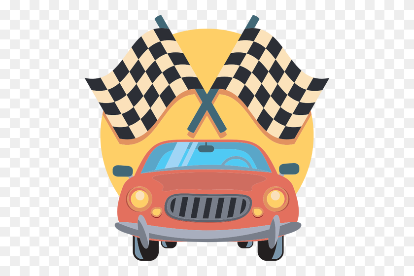 Car And Racing Flags - Racing Flag Clipart