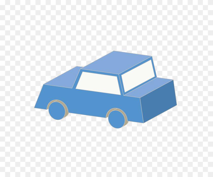 Car Car Car Blue Stereoscopic Icon Wind Simple Mark - Simple Car Clipart