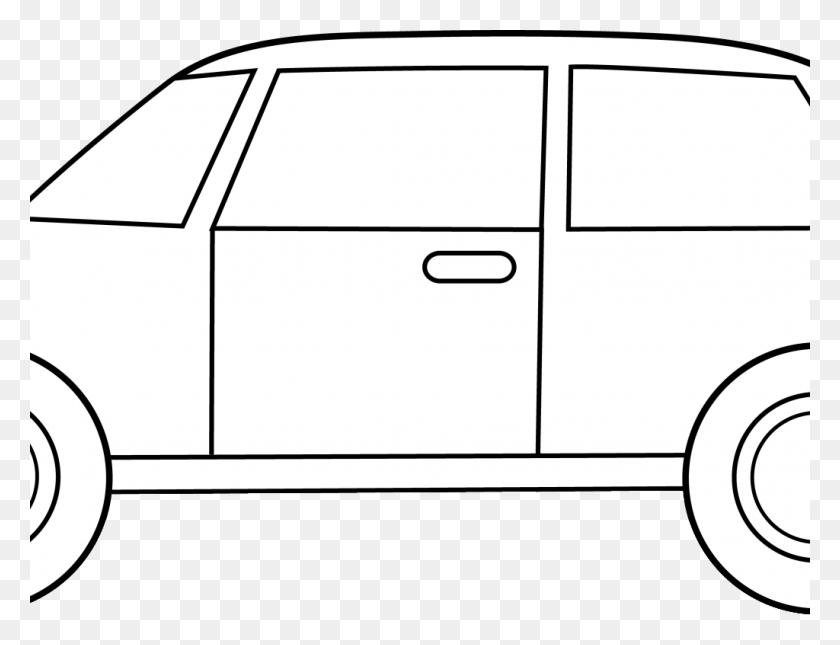 1024x768 Car Clip Art Black And White - Free Classic Car Clipart