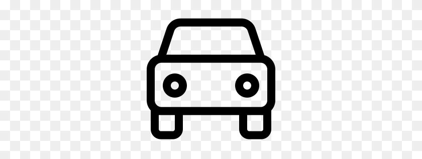 Car Icon Outline Front View - Car Front View PNG