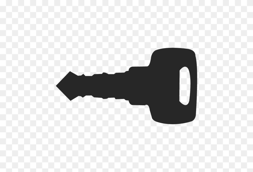 Car Key Silhouette - Car Key PNG