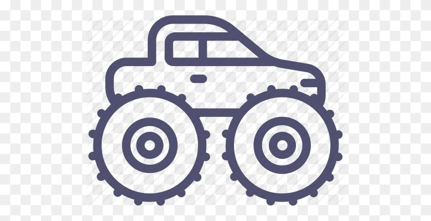 512x371 Car, Monster, Truck, Wheels Icon - Monster Truck Clip Art