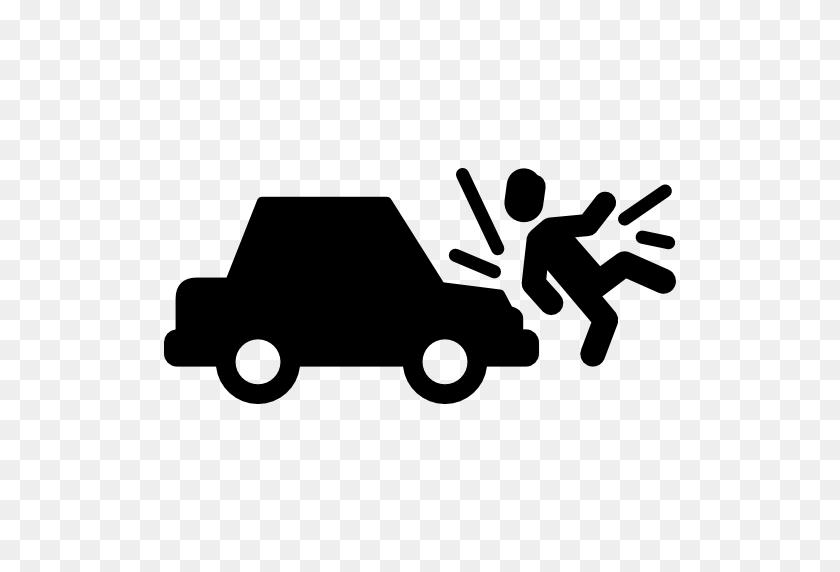 Car Run Over Man - Car Crash PNG
