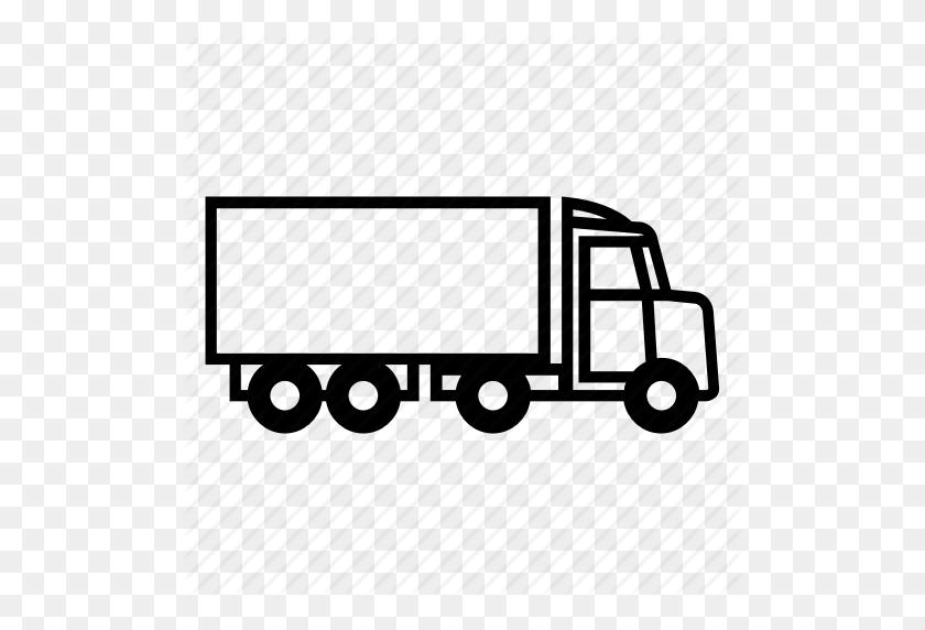 Car, Trailer, Truck Icon - Truck And Trailer Clip Art