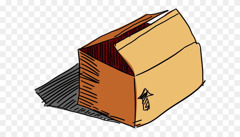 Cardboard Box Clip Art - Cardboard Box Clipart