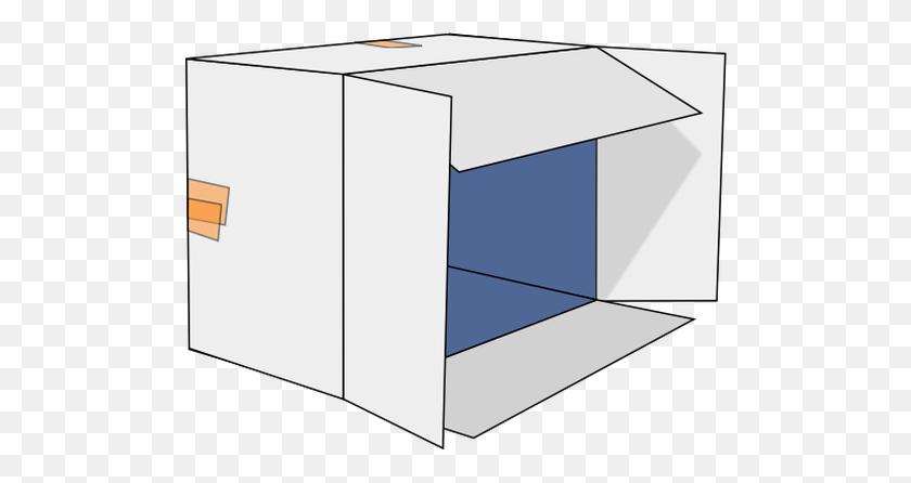 Cardboard Box Tipped Over Vector Clip Art - Cardboard Box Clipart