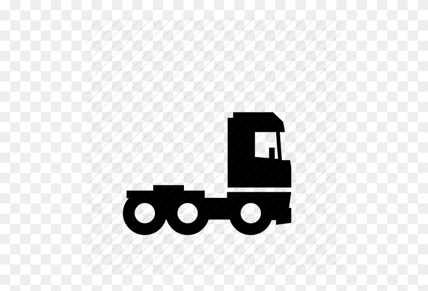 Cargo, Road, Semi, Tractor, Trailer, Transport, Truck Icon - Truck And Trailer Clip Art