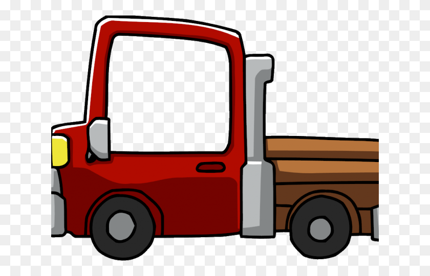 Cargo Truck Clipart - Semi Truck Clipart
