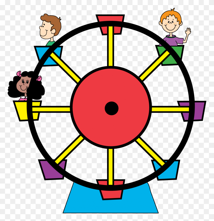 Carneval Clipart Giant Wheel - Roller Coaster Clipart
